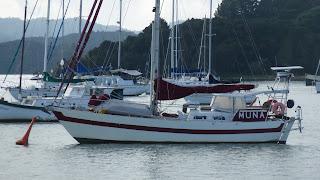 Schwesternschiff (?) in Opua.