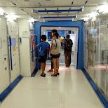 inside an ISS module in Odaiba, Tokyo, Japan