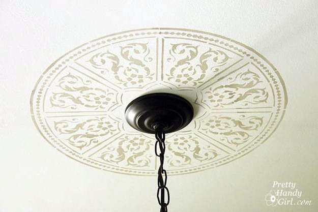 faux ceiling medallion tutorial