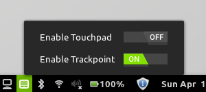 Touchpad Indicator in Cinnamon
