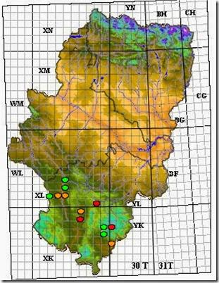 mapa G. benedictoi