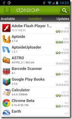 التطبيقات التى قمت بتنصيبها على جهازك موجودة تحت قائمة Installed