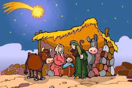 Niño Jesus con maria