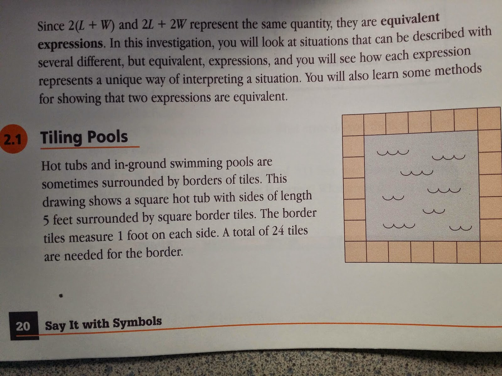 8th Grade Carbajals Math Class 21 Tiling Pools