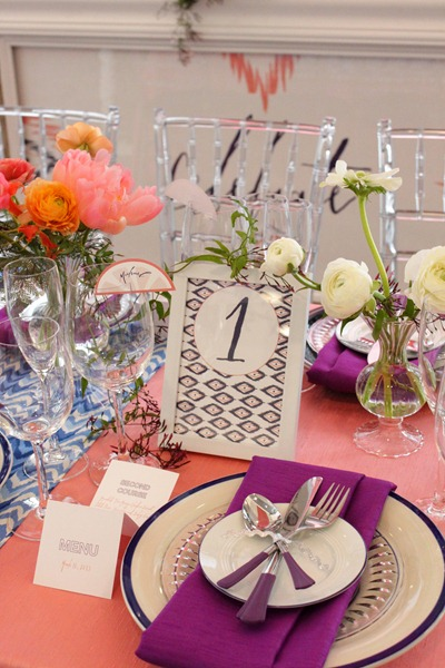 Hello Darling   Courtney Callahan Paper at Martha Stewart Wedding Party, table numbers