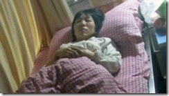 cao ruyi photo in hospital bed
