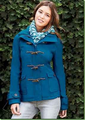 Emma Hooded Toggle Coat with Thinsulate