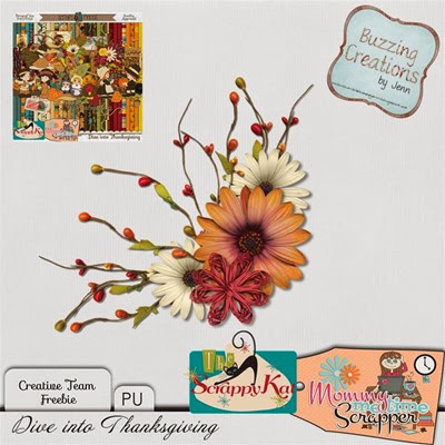 MMTS & TSK - Dive into Thanksgiving - Cluster Freebie Preview