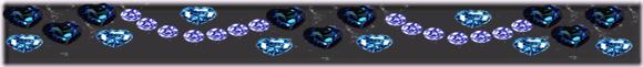 barrinha coração azul