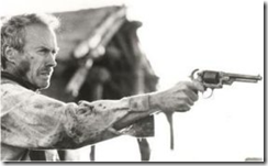 Clint Eastwood with a gun