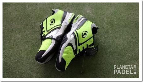 Análisis Zapatillas pádel VISION pro V60115 Color Verde/Lima suela mixta 2014