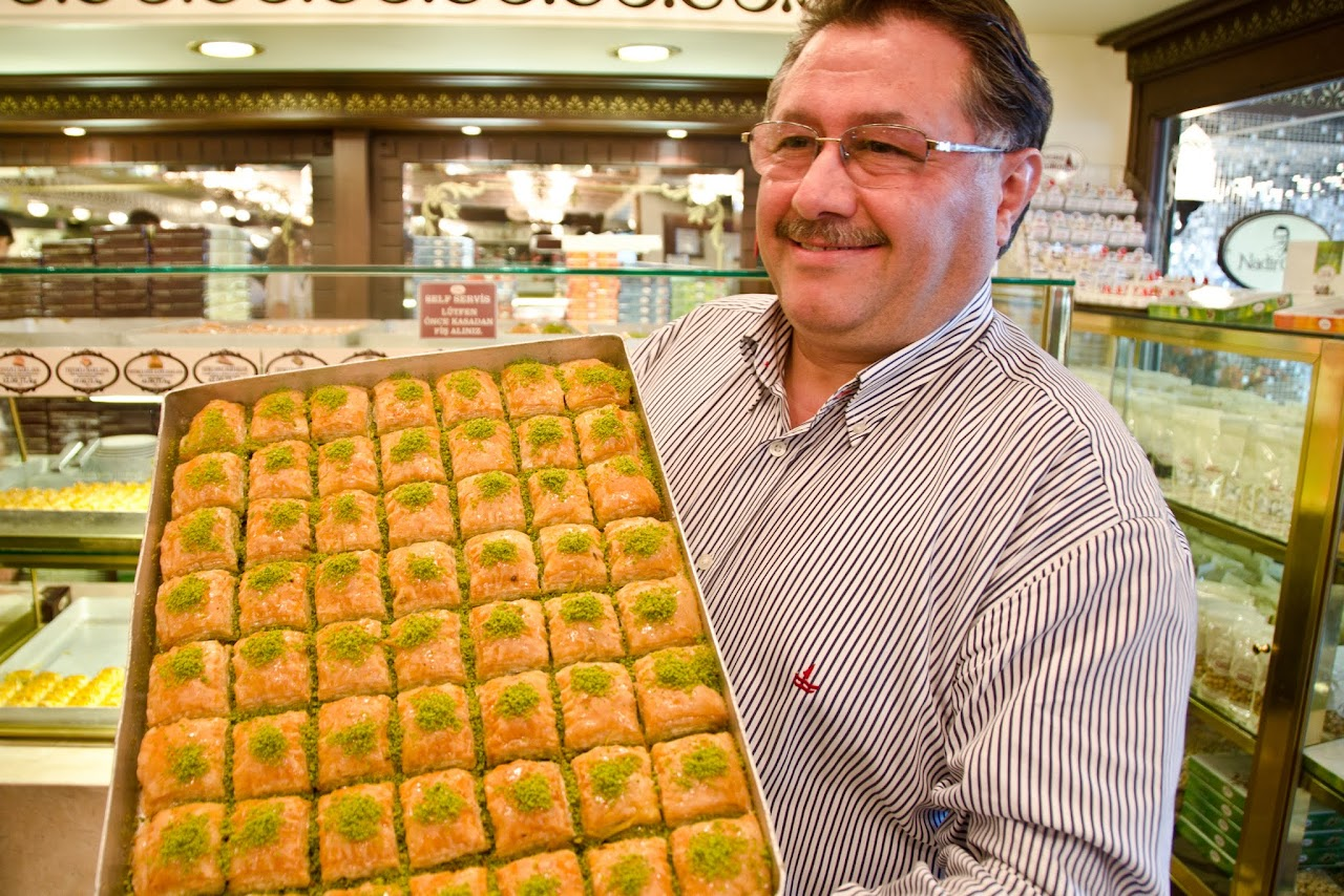 Nadir Gullu with his baklava