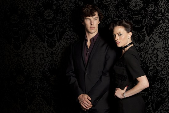BBC Sherlock Benedict Cumberbatch is Sherlock and Lara Pulver is Irene Adler