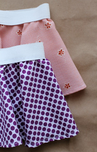 both circle skirts