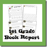 1st Grade Book Report Form