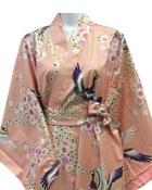 Peacock & Sakura Women's Pink Kimono