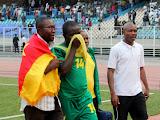 – Déception des lionceaux du Cameroun ce 26/07/2011 au stade des Martyrs à Kinshasa, lors du match aller du dernier tour des éliminatoires des Jeux Africains-Maputo 2011. Score RDC-Cameroun : 1-0. Radio Okapi/ Ph. John Bompengo