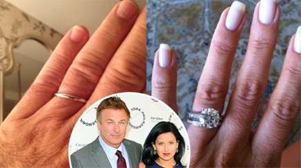 Hilaria's Brilliant Diamond Engagement Ring