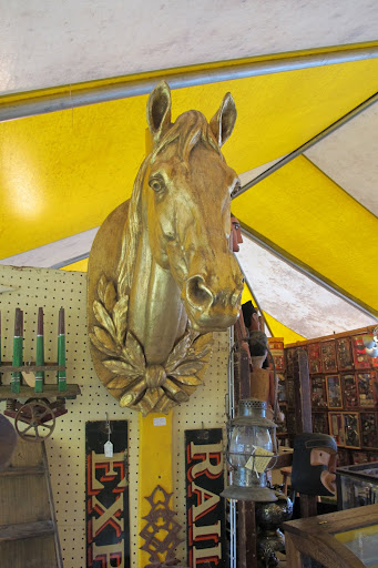 This horse head was really impressive. It was impressively priced as well...$3000.