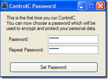 ControlC settare password database