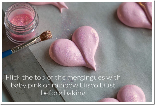 meringue heart cookies
