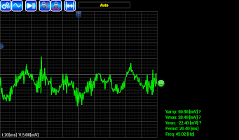 Screenshot of AR-Oscilloscope