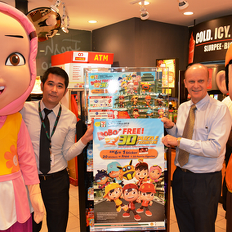 BoBoiBoy dan rakan-rakan di 7-Eleven Malaysia