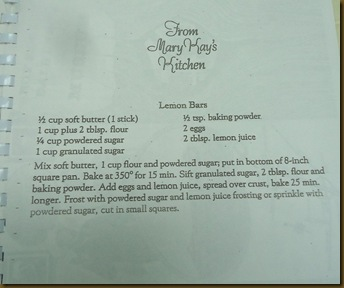 Mary Kay Recipe
