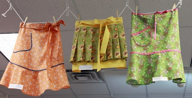 Cute aprons on display