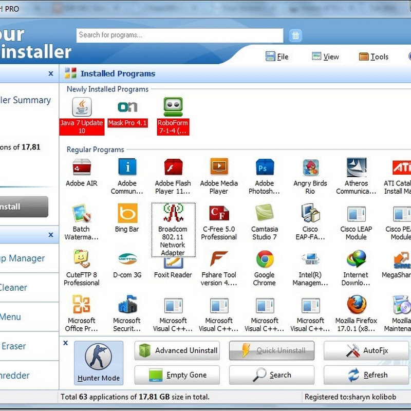 Download Your Uninstaller 7.5 Pro mới nhất 2013 Full Key