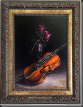 Violin roses Framed