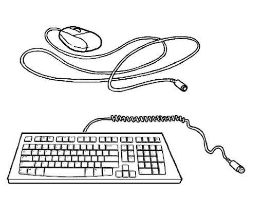 Las partes computadora para colorear - Imagui