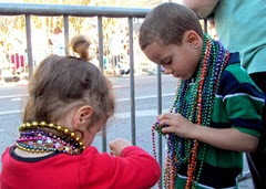 1403014 Mar 01 Two Little Ones Sharing Beads