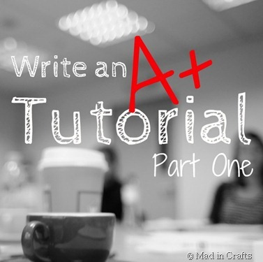 Write an A  Tutorial