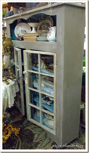 vintage inspired cupboard