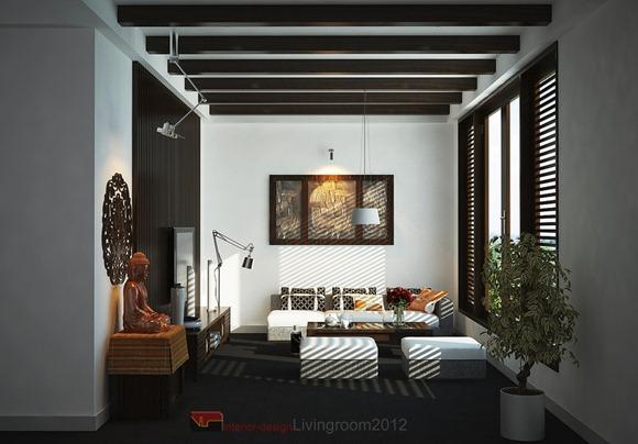 habitaciones con estilo asiático