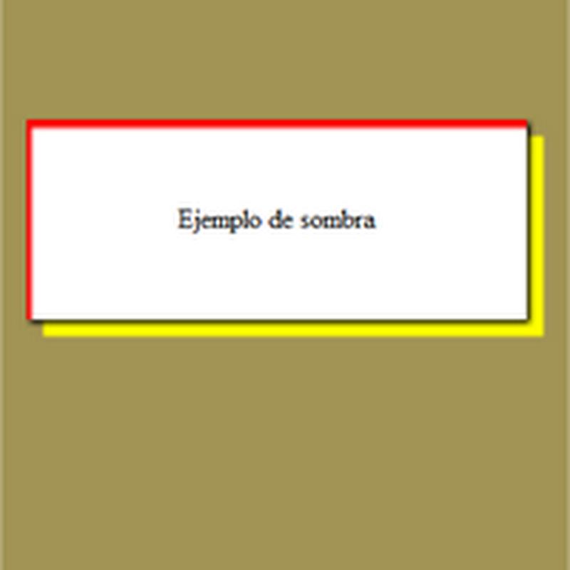 Cómo hacer sobra interior y sombra exterior en CSS3