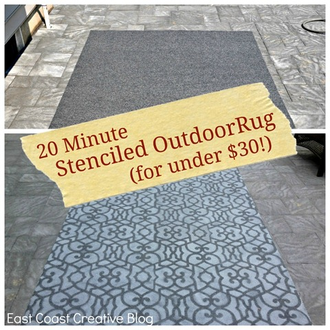 Stenciled outdoor rug 3