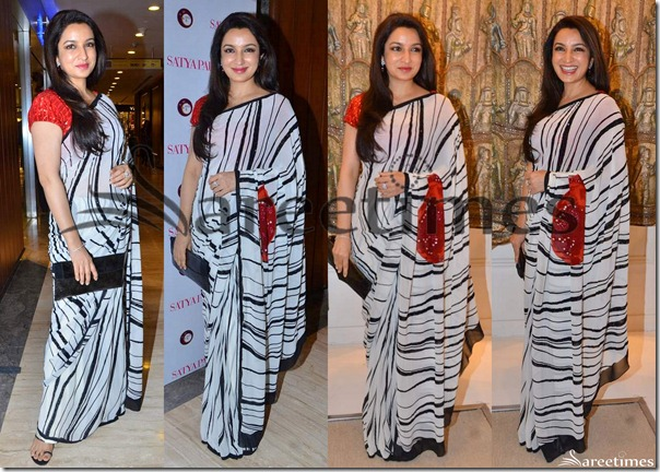 Tisca_Chopra_Satya_Paul_Saree