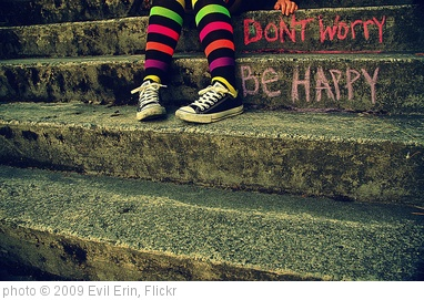 'don't worry be happy' photo (c) 2009, Evil Erin - license: http://creativecommons.org/licenses/by/2.0/
