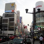 shopping street in ginza in Tokyo, Tokyo, Japan