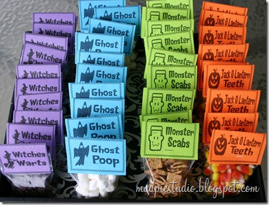 Halloween Treat Bags from mudpiereviews.blogspot.com