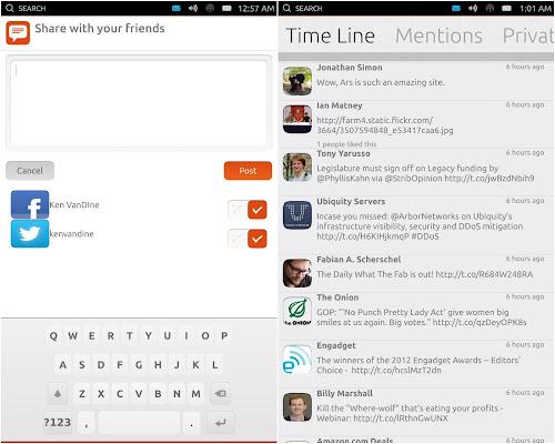 Gwibber su Ubuntu Phone