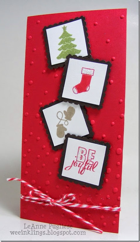 LeAnne Pugliese WeeInklings ColourQ252 Second Christmas Card