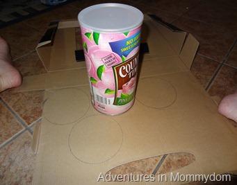 oatmeal carton castle step 1