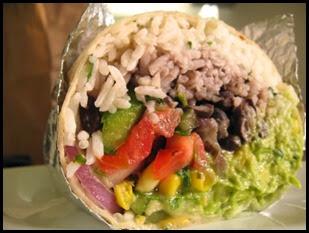 Burrito vegeariano da Chipotle