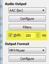 avidemux-shift-audio