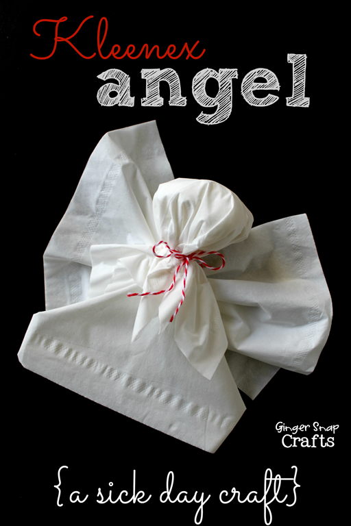 Kleenex Angel from GingerSnapCrafts.com #KleenexTarget #ad