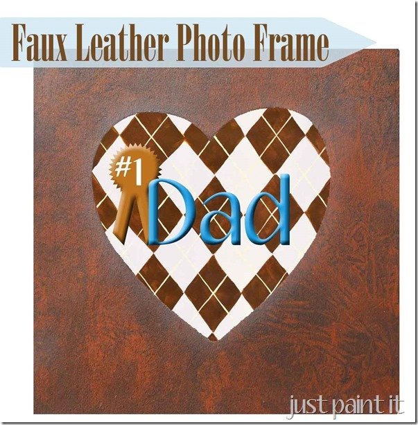How To Paint Faux Leather Photo Frame