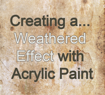 weathered effect painting